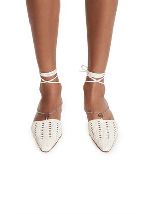 Brother Vellies Olivia Chain Wrap Woven Flats