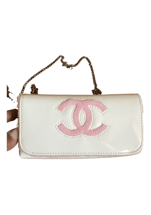 Chanel \n white synthetic clutch bag