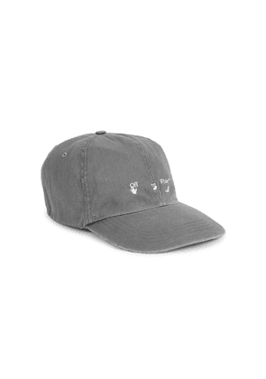 Off-White Grey Logo-embroidered Twill Cap