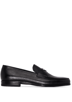 Prada logo-plaque slip-on loafers - Black