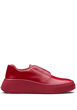 Prada brushed square-toe Derby shoes - Red