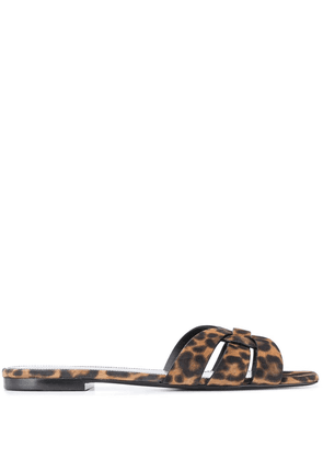 Saint Laurent Tribute flat sandals - Brown