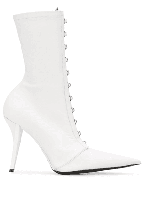 Fenty Corset 105mm pointed-toe boots - White
