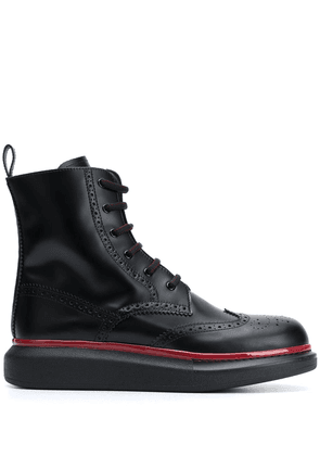 Alexander McQueen Hybrid lace-up boots - Black