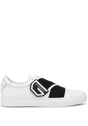 Givenchy elasticated logo strap sneakers - White