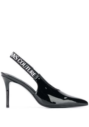 Versace Jeans Couture pointed pantent mules - Black