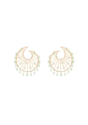 Apples & Figs 24K gold-plated Allegory of Spring shell earrings -
