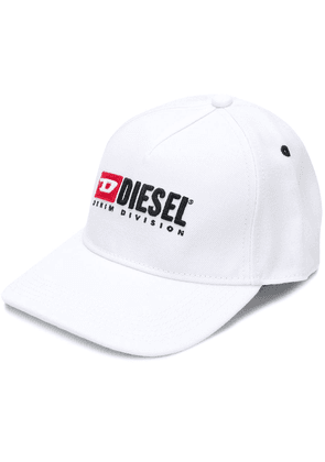 Diesel embroidered logo cap - White
