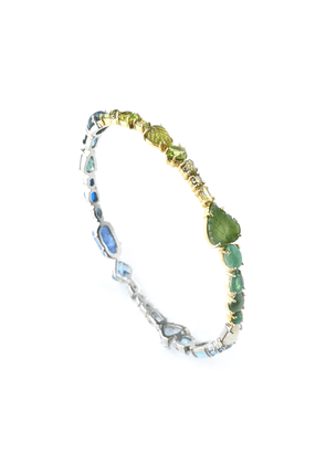 Sharon Khazzam One of a Kind Blue and Green Baby Bangle