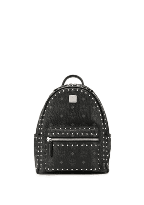 MCM studded logo print backpack - Black