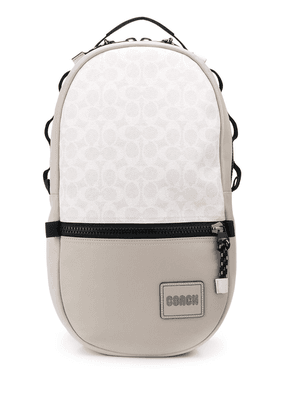 Coach Pacer logo backpack - NEUTRALS