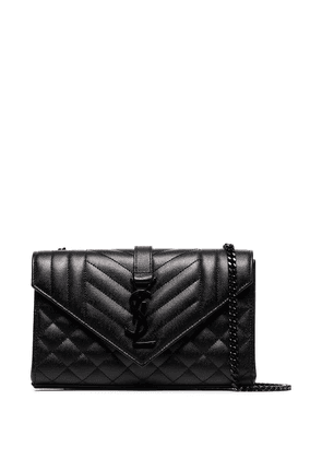 Saint Laurent small Envelope leather shoulder bag - Black