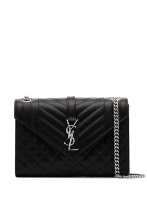 Saint Laurent medium Envelope monogram shoulder bag - Black