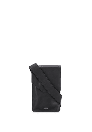 A-COLD-WALL* logo embossed neck-strap bag - Black