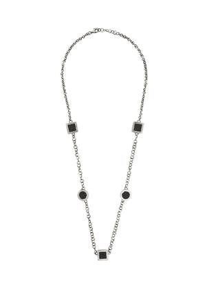 Guidi geometric chain-link necklace - SILVER