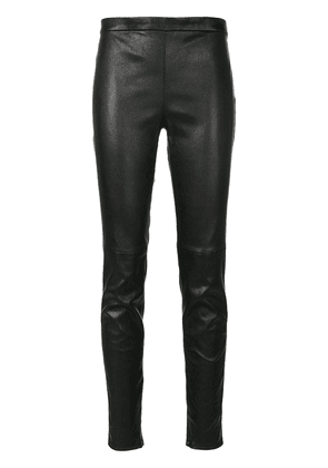 Saint Laurent mid-rise fitted leggings - Black