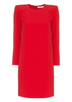 Givenchy exaggerated shoulders dress - Red