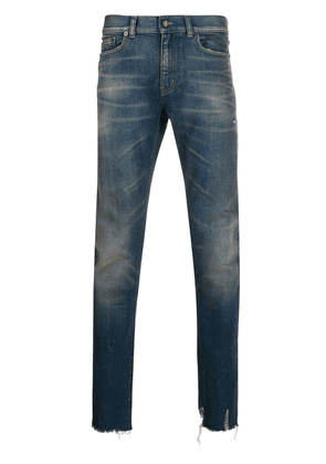 Saint Laurent stonewashed straight leg jeans - Blue