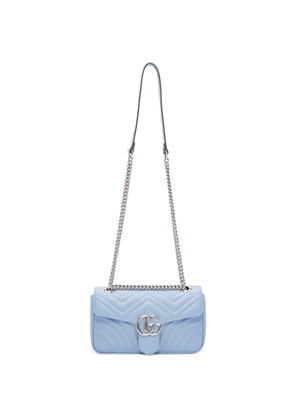 Gucci Blue Small GG Marmont 2.0 Shoulder Bag