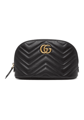 Gucci Black GG Marmont 2.0 Quilted Cosmetic Pouch