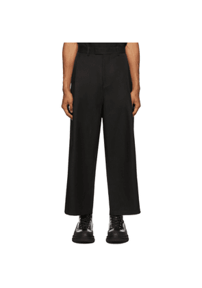 both Black Second Layer Edition Pleated Wide Trousers