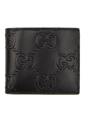 Gucci Black GG Embossed Coin Wallet