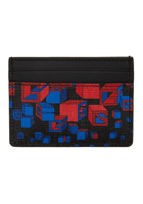 Gucci Black Square G Space Print Card Holder