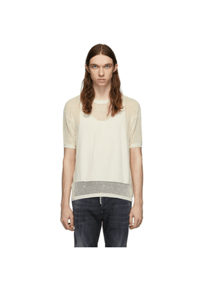 Dsquared2 Off-White Knit T-Shirt