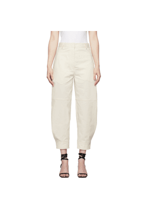 Tibi Off-White Myriam Sculpted Trousers