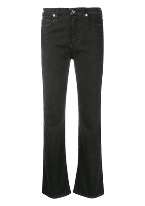Love Moschino cropped flared jeans - Blue