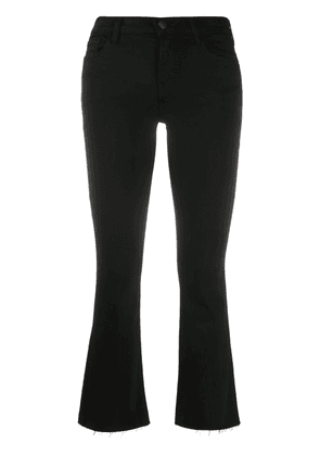 J Brand mid-rise cropped jeans - Black