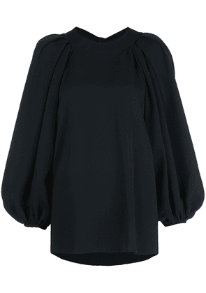Oscar de la Renta open-back balloon-sleeved blouse - Black
