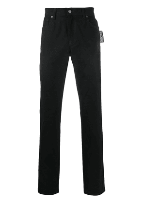 Moschino straight-let mid-rise jeans - Black