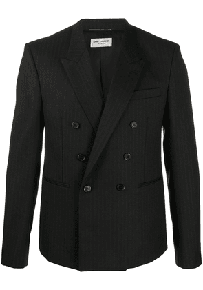 Saint Laurent pinstriped double-breasted blazer - Black
