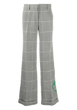 Off-White houndstooth-print straight trousers - Black