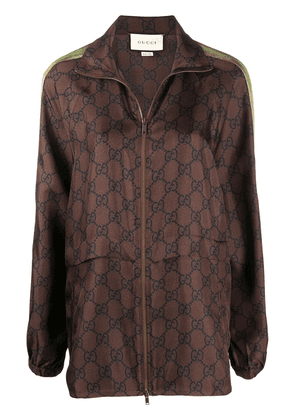 Gucci oversize GG supreme track jacket - Brown