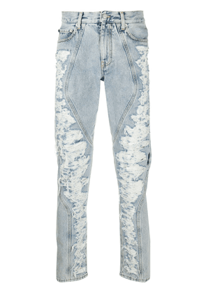 Off-White distressed panel jeans - Blue