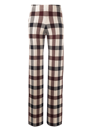 Victoria Victoria Beckham checked trousers - Red