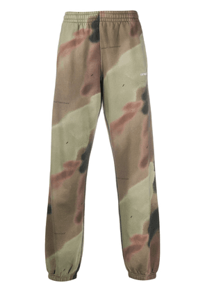 Off-White camouflage print track pants - Green