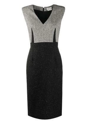 Alexander McQueen Donegal shift dress - Black