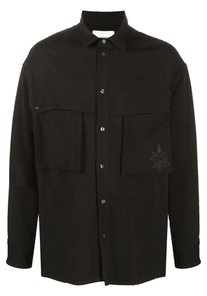 Opening Ceremony logo-embroidered long-sleeved shirt - Black