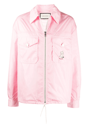 Gucci embroidered cat jacket - PINK