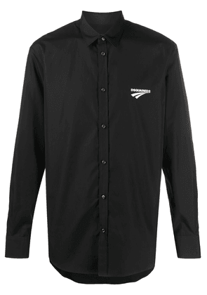 Dsquared2 logo print relaxed fit shirt - Black