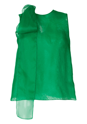 The 2Nd Skin Co. organza pussybow blouse - Green