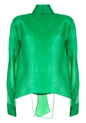 The 2Nd Skin Co. pussybow back blouse - Green