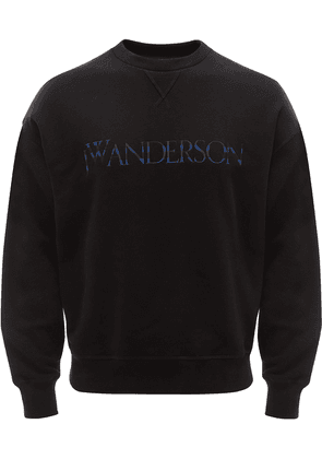 JW Anderson embroidered logo sweatshirt - Black