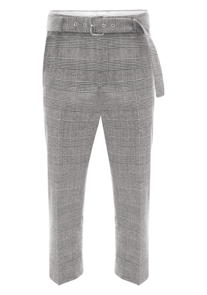 JW Anderson plaid cropped trousers - Grey