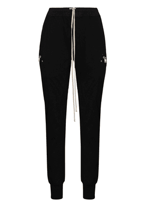 Rick Owens fitted heavy jersey track pants - Black