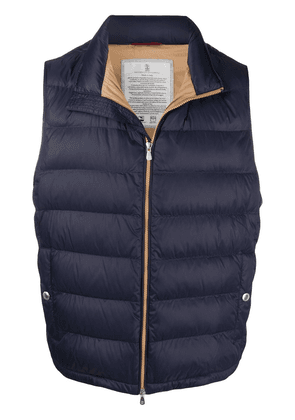 Brunello Cucinelli zipped padded gilet - Blue
