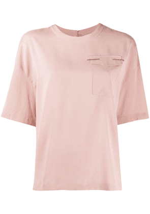 Brunello Cucinelli chest pocket blouse - PINK